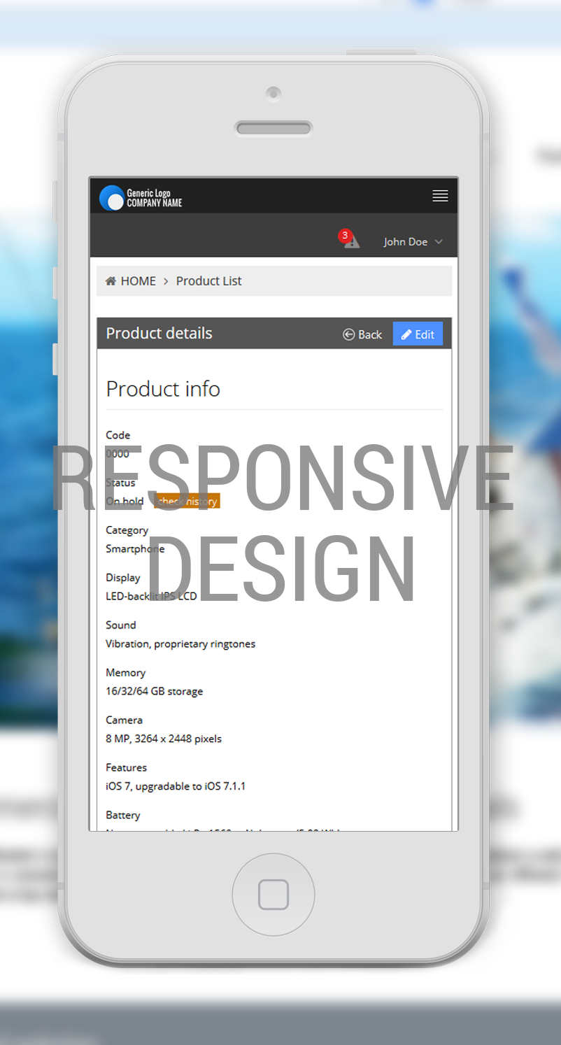 Product management software / Responsive design / Concept24